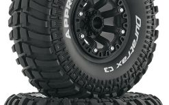 "Duratrax Dtxc4046 2.2"" Approach CR C3 Mounted Tires / Wheels (2) Rock Crawler"