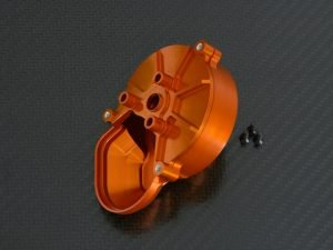 Transmission spur gear case für Axial Wraith Rock Racer 1:10 Alu orange